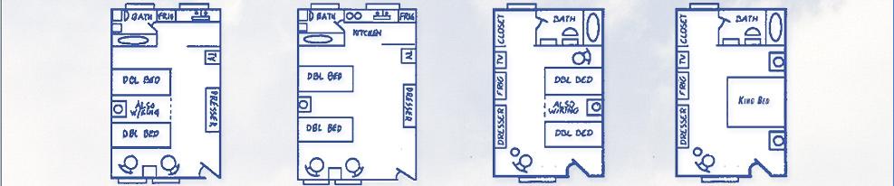 MOTEL ROOM FLOOR PLANS
